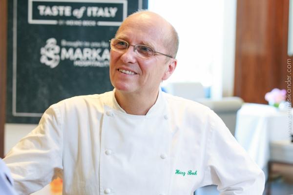 Heinz Beck atterra a Fiumicino con Chef Express