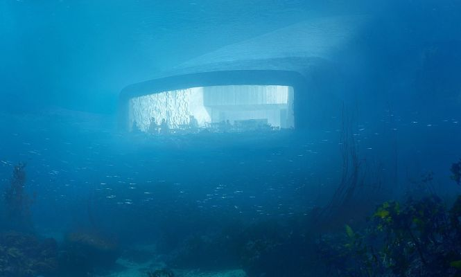 Il bar (e ristorante) sotto il mare, tra i fiordi norvegesi
