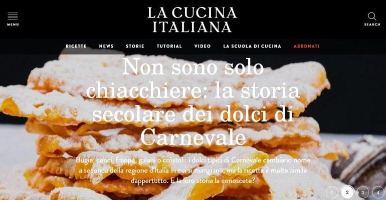 Record di click per la cucina italiana il business si fa anche con