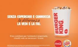 Lotta alla plastica, Burger King elimina coperchi e cannucce