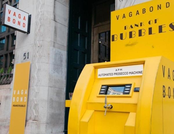 """""""La banca del prosecco"""". A Londra il primo distributore Atm"""